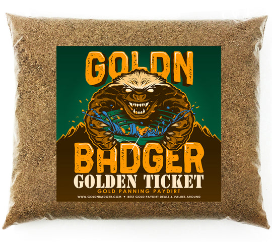 *NEW* Goldn Badger 'GOLDEN TICKET' Gold Panning Paydirt - Nugget Panning Concentrate Bags