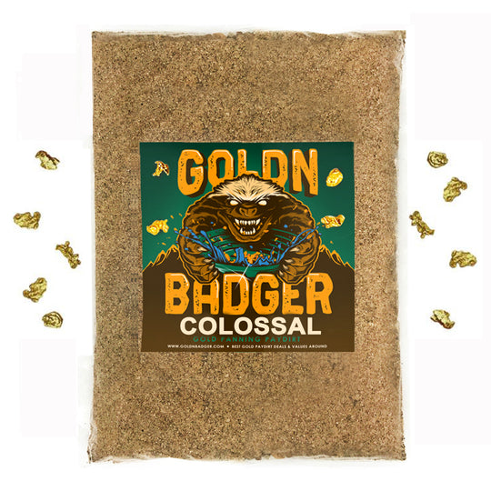 GOLDN BADGER™ 'COLOSSAL' Gold Panning Paydirt - Gold Prospecting Concentrate