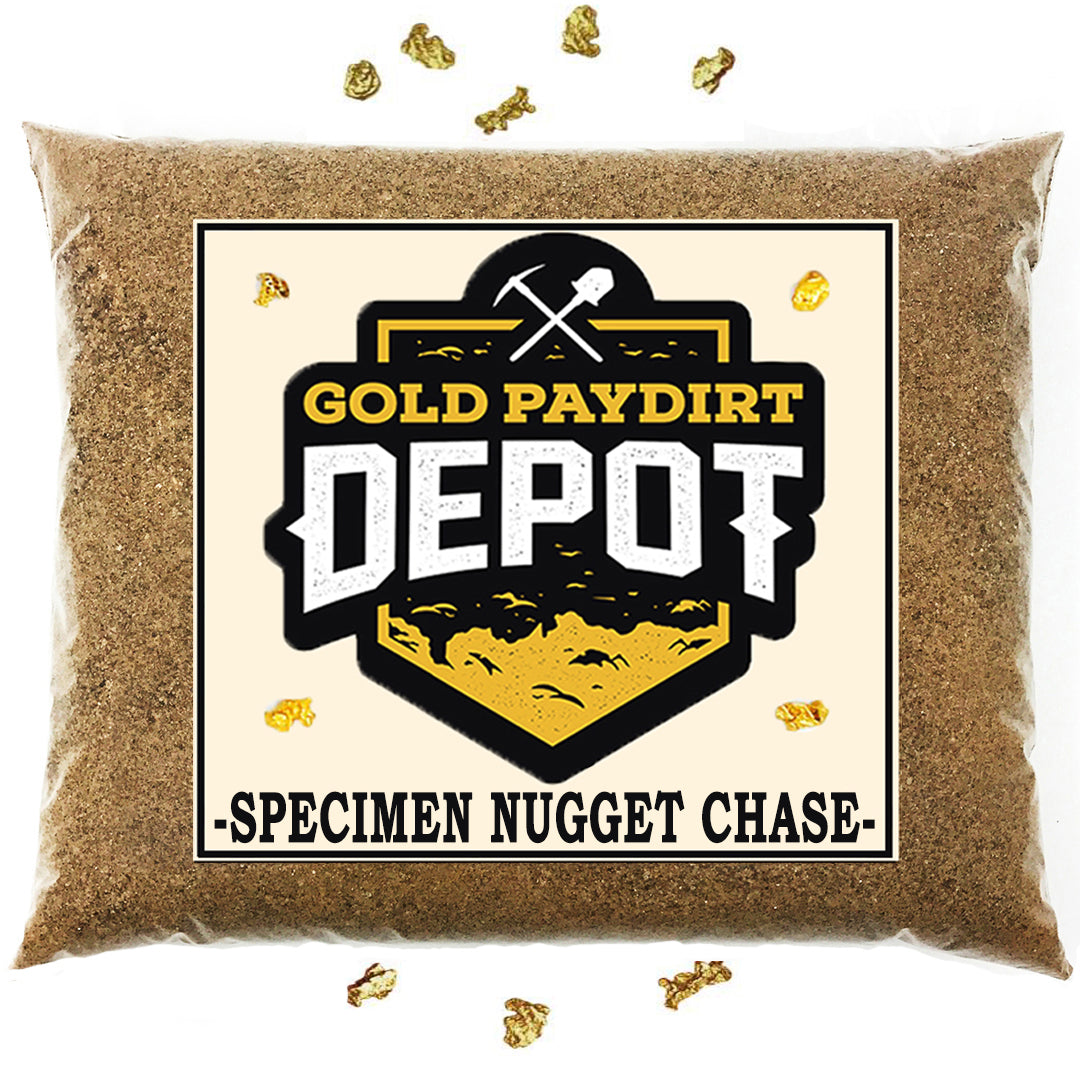Gold Paydirt Depot - 'NUGGET SPECIMEN CHASE' - Gold Paydirt Panning Concentrates