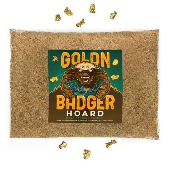 GOLDN BADGER™ 'HOARD' Gold Paydirt Panning Unsearched