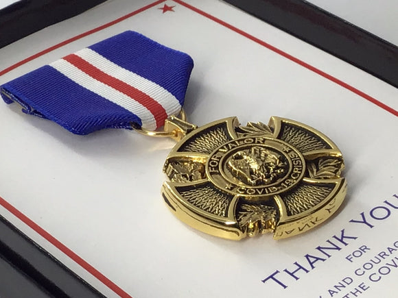 Covid-19 Valor Medal (Antique)