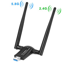 Load image into Gallery viewer, Zexmte Wireless USB WiFi Adapter 1200Mbps Dual Band 2.4GHz/300Mbps 5GHz/867Mbps - zexmte