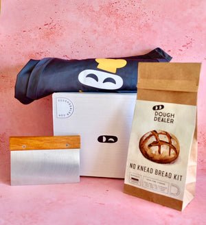 Holiday Bundle with Apron, Bread Kit, Dough Scraper