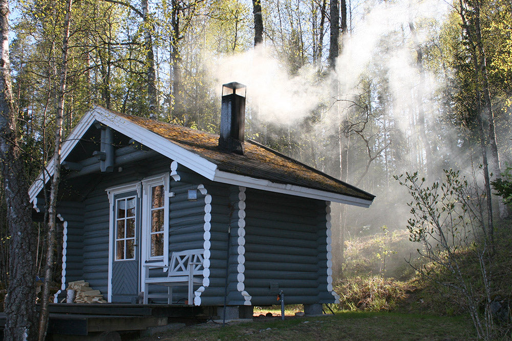 The traditional Finnish sauna building