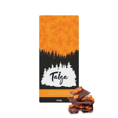 Taiga's Dark Chocolate With Sea Buckthorn