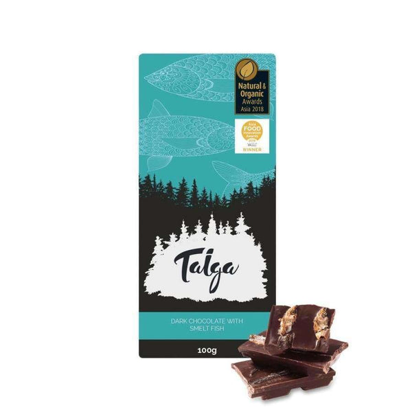 Taiga's Dark Chocolate With Smelt Fish