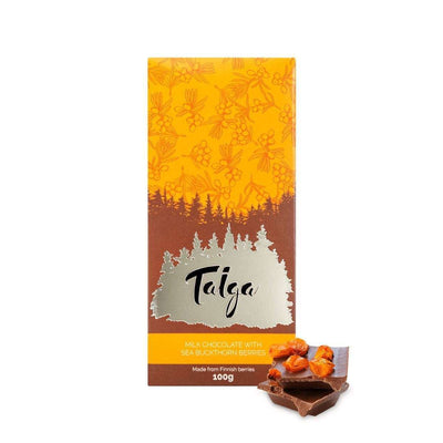 Taiga's MIlk Chocolate With Sea Buckthorn Berries