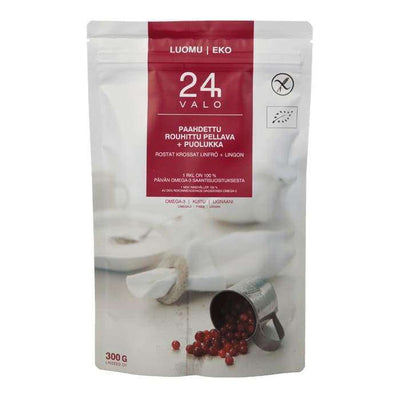 Valo24h Organic Roasted Ground Flaxseed + Lingonberry