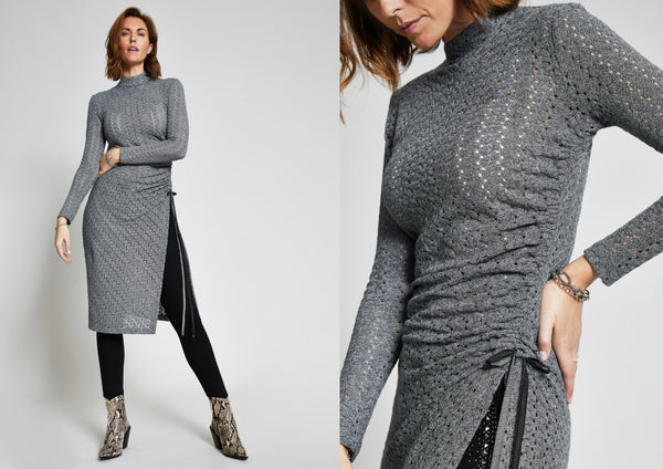 grey ruched tunic