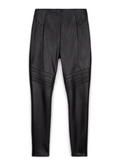 Black Biker Faux Leather Trousers