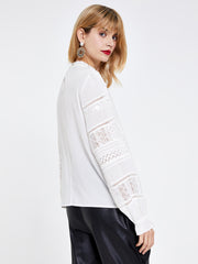 Cream Victoriana Lace Top