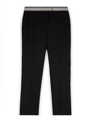 Black Stretch Cigarette Trousers