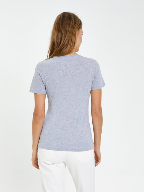 Grey 'Cat In The Hat' Embroidered Tee