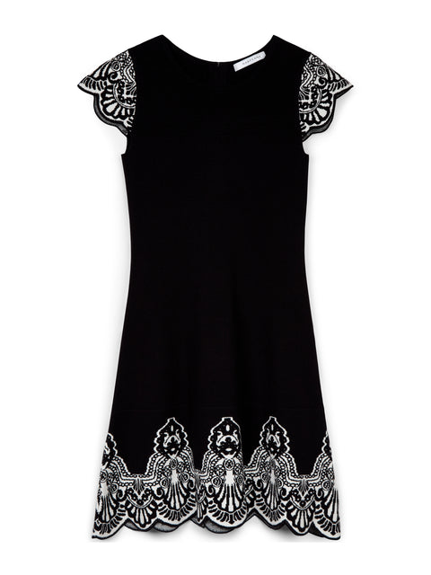 Marseille Knit Baroque Skater Dress