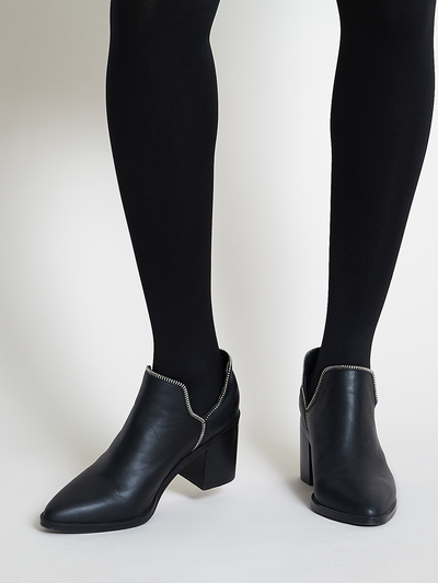 SENSO Huntley Black Zip Leather Boots