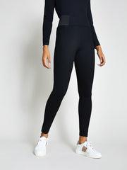 Black High Waisted Ponte Leggings