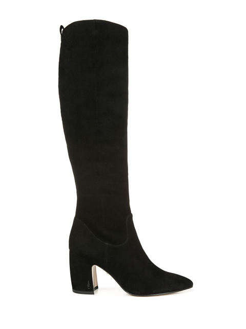 Sam Edelman Knee High Black Suede Boots