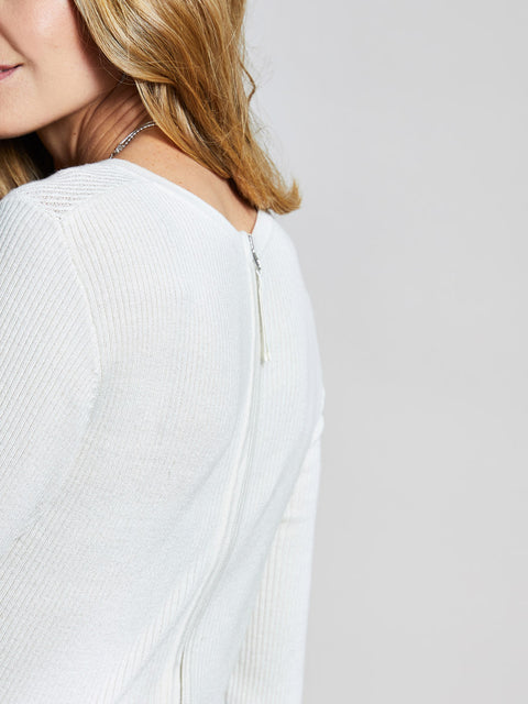 Cream Rib Knit Jumper