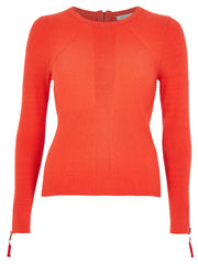 Orange Rib Knit Jumper