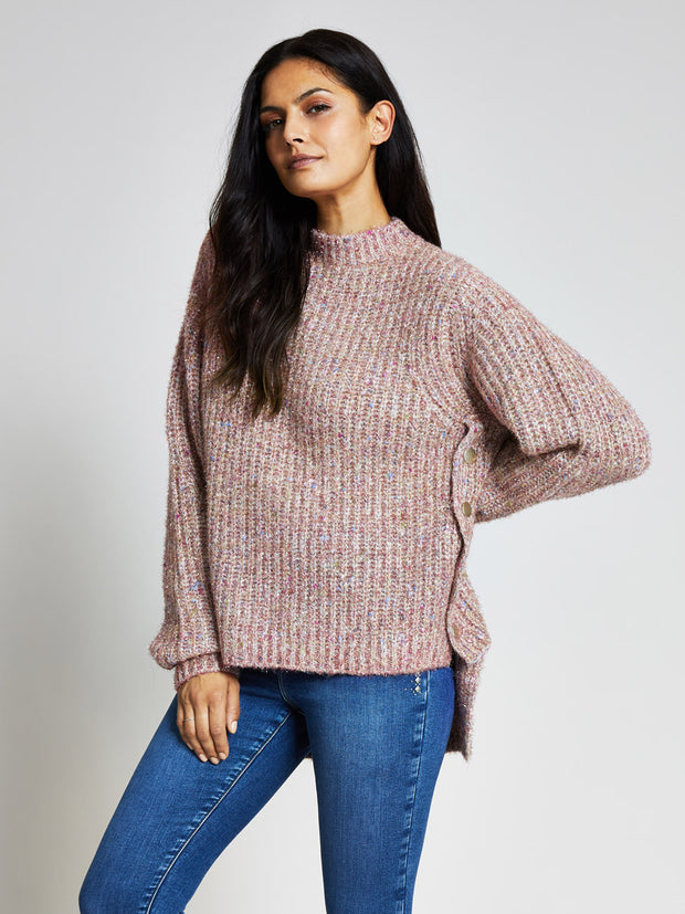 Pink Sparkly Chunky Knit Jumper