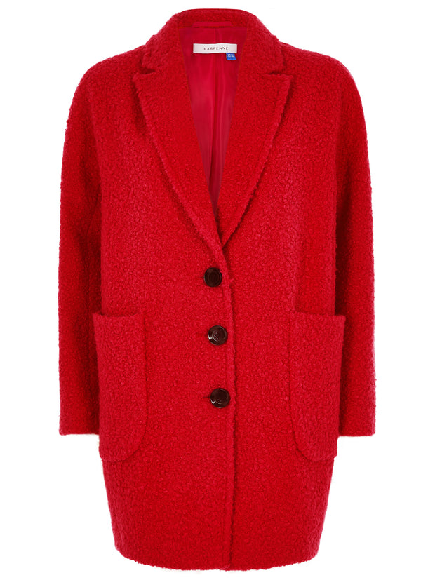 Red Textured Coat