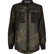 Khaki Camo Animal Blouse