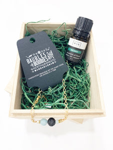 Aromatherapy Bracelet and Oil Gift Set
