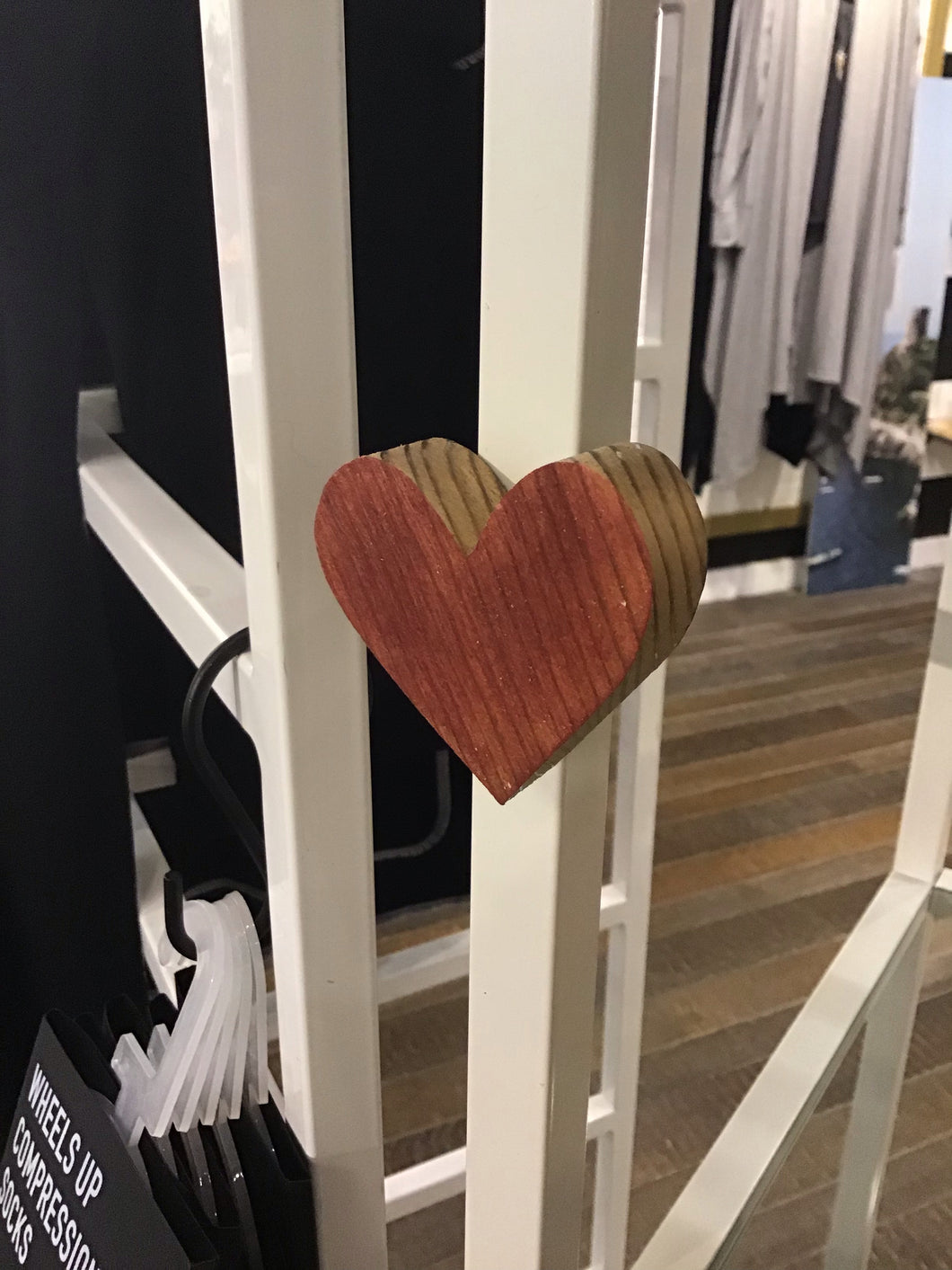 Wood Heart Magnet