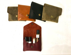 Leather rollerball organizer
