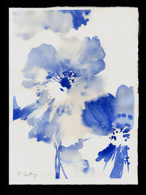 Abstract Blue Florals