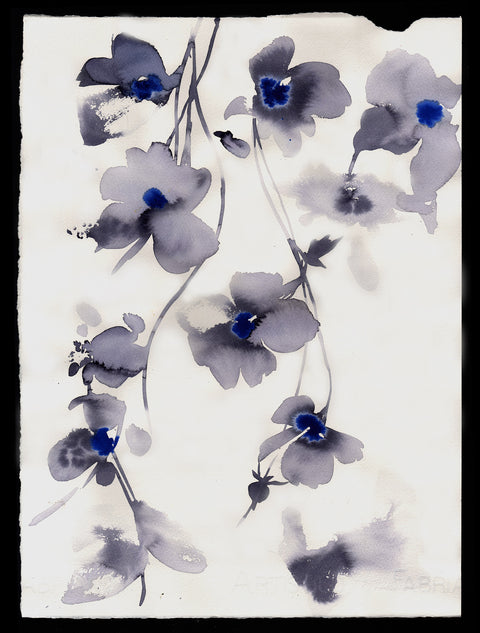 Blue Hanging Flowers