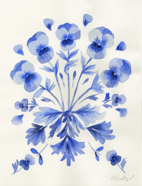 Blue Pansy 1