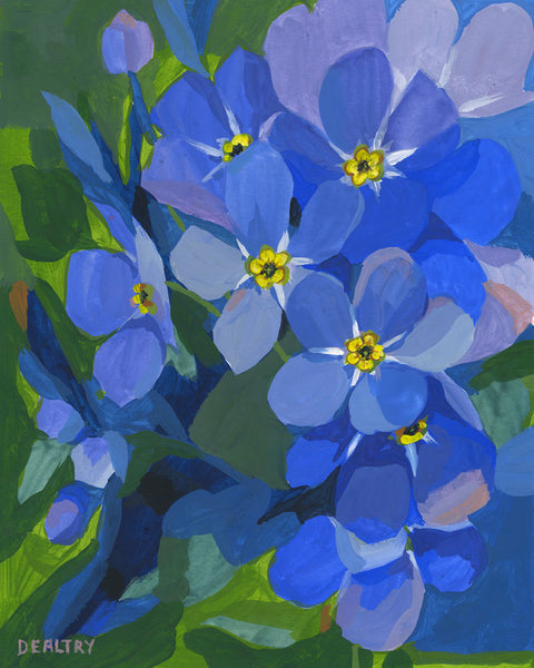 Forget-me-not 2 - Giclee Print