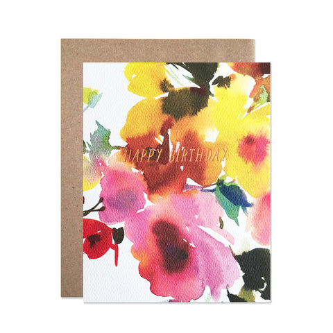 Birthday Florals - Card
