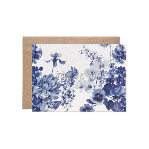 Blue Thank you - Card