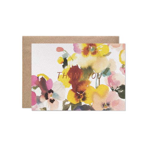 Pansies Thank You - Card