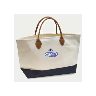 Leather Handle Vineyard Vines/Ocean Edge Logo Tote Bag