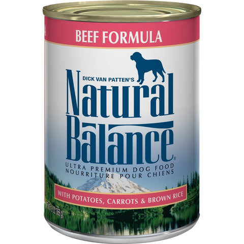 Natural Balance Ultra Premium Beef Formula Canned Dog Food