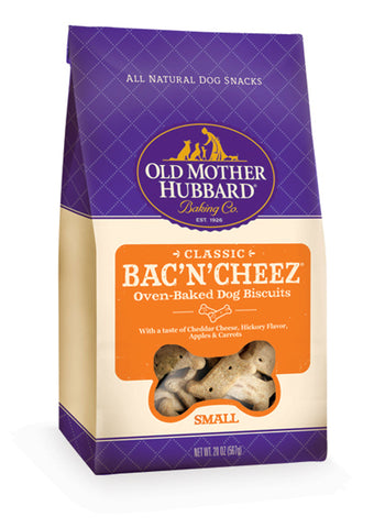 Old Mother Hubbard Crunchy Classic Natural BacNCheez Biscuits Dog Treats