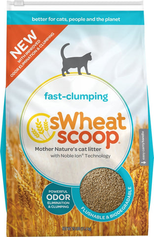 sWheat Scoop Fast Clumping Natural Original Cat Litter