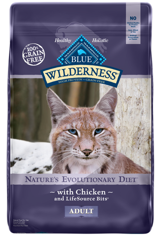 Blue Buffalo Wilderness Grain Free Chicken Recipe Dry Cat Food