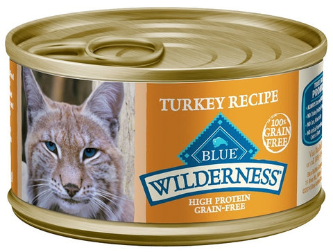 Blue Buffalo Wilderness Turkey Recipe Canned Cat Food