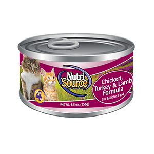 NutriSource Grain Free Cat and Kitten Chicken Turkey and Lamb Canned Cat Food