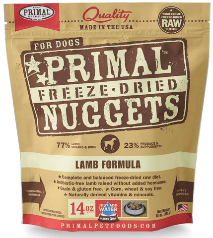 Primal Freeze Dried Nuggets Grain Free Lamb Formula Dog Food