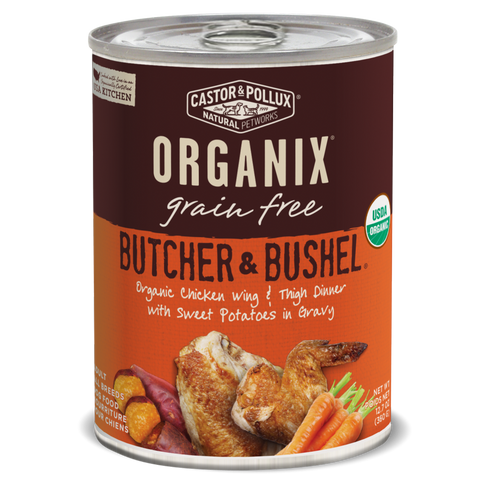 Castor and Pollux Organix Butcher and Bushel Organic Chicken Wing and Thigh Dinner Canned Dog Food