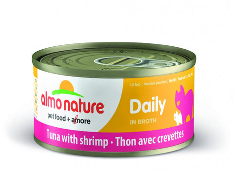 Almo Nature Daily Grain Free Tuna with Shrimp Canned Cat Food
