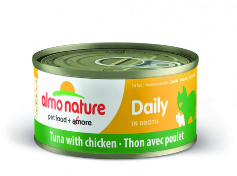 Almo Nature Daily Grain Free Tuna with Chicken Canned Cat Food