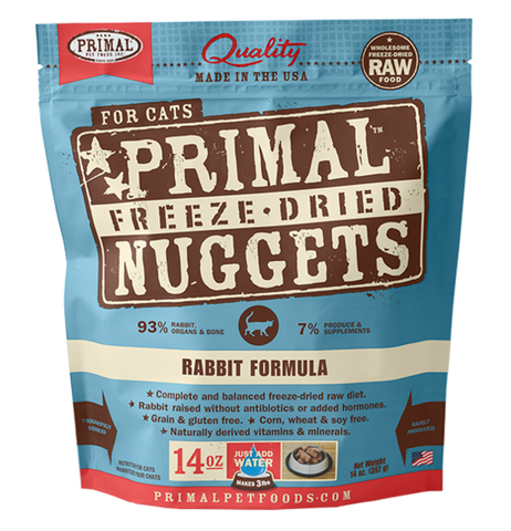 Primal Freeze Dried Nuggets Grain Free Rabbit Formula Cat Food