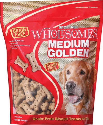 SPORTMiX Wholesomes Medium Golden Biscuits Grain Free Dog Treats