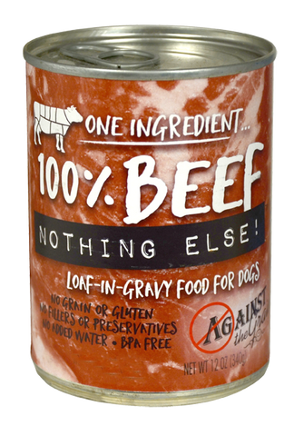 Against the Grain Nothing Else Grain Free One Ingredient 100% Beef Canned Dog Food